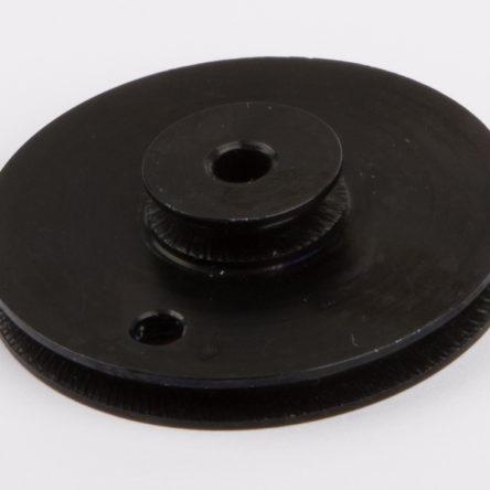 Polea doble 38mm, aluminio, negro, D15, D21, D430, D456